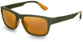 TRAVELER Eben Matte Rifle Green | Gold Mirror Lens