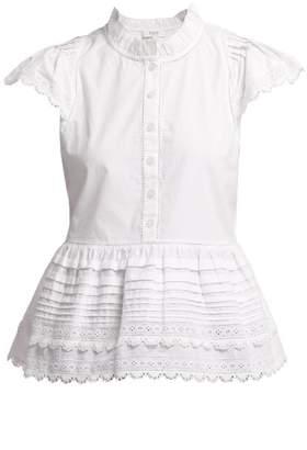 Sea Lilli Ruffle Trimmed Cotton Blouse - Womens - White