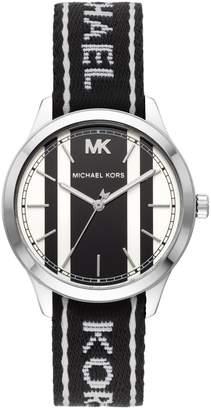 Michael Kors Runway Stainless Steel Logo Strap Watch
