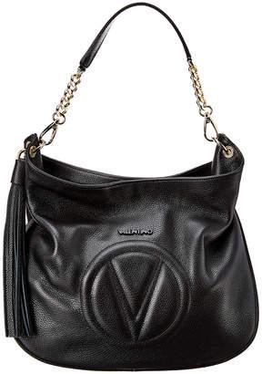 Mario Valentino Valentino By Penelope Dollaro Leather Hobo Bag
