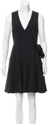 Thakoon Godet Pleated Sleeveless Dress