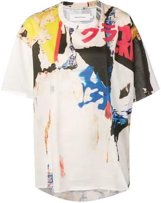 Marques Almeida Marques'almeida abstract-print loose T-shirt