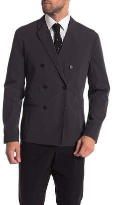 Theory Chrome Clinton Double Breasted Slim Fit Blazer
