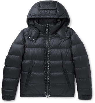 Valentino Rockstud Quilted Shell Hooded Down Jacket - Men - Midnight blue