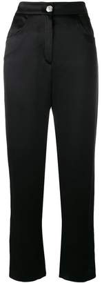 Balmain high-waisted silk trousers