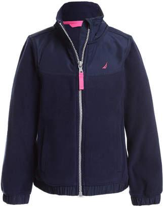Nautica (ノーティカ) - Nautica Big Girls Mock-Neck Polar Fleece Zip-Up Jacket