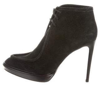 Burberry Suede Lace-Up Booties