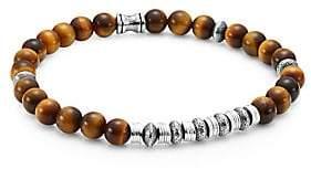 Dakota Jonas Studio Men's Sterling Silver & Tiger's Eye Beaded Bracelet