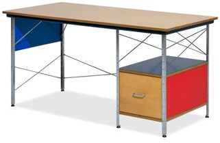 Eames® Right Hand File Drawer Desk Unit in Multicolor by Herman Miller®