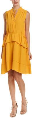 Derek Lam 10 Crosby Tiered Silk-Blend A-Line Dress