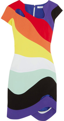Mugler - Cutout Crepe Mini Dress - Orange $2,540 thestylecure.com