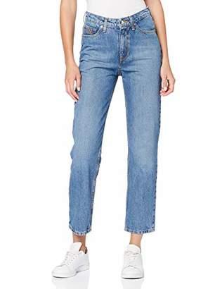 Tommy Hilfiger Women's Th Ess Classic Straight Hw C Ela Jeans, Blue 912, (Size: NI32)