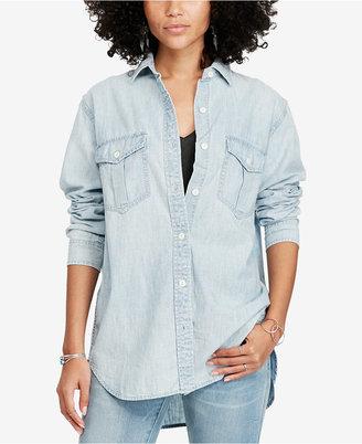 Denim & Supply Ralph Lauren Chambray Surplus Shirt $125 thestylecure.com