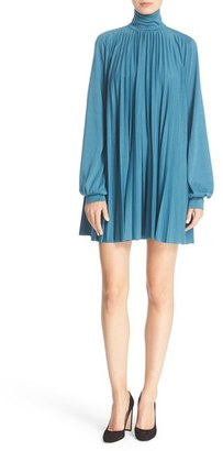 Tracy Reese Pleated Jersey Turtleneck Dress $298 thestylecure.com