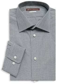 Hickey Freeman Micro Checkered Cotton Dress Shirt
