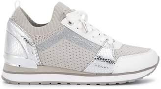 MICHAEL Michael Kors Billie metallic knit sneakers