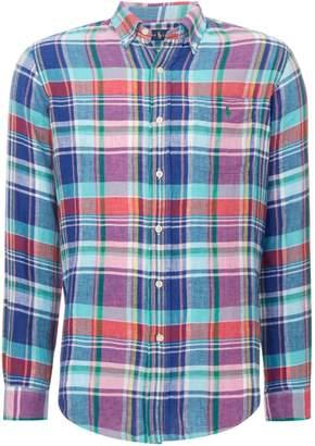 Polo Ralph Lauren Men's Custom Fit Linen Checked Shirt