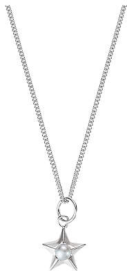 Claudia Bradby Star and Peal Chain Necklace, Silver