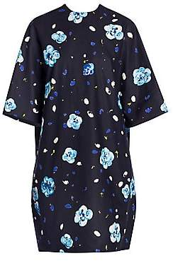 Marni Women's Floral Printed Cotton Boxy Dress