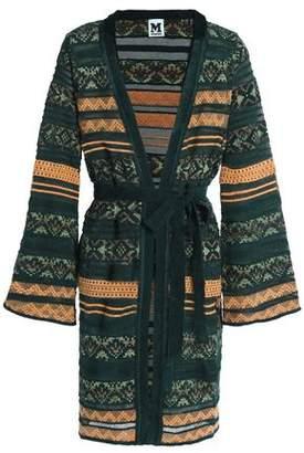 M Missoni Belted Jacquard-Knit Cardigan
