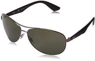 Ray-Ban METAL MAN SUNGLASS - Frame POLAR DARK GREEN Lenses 63mm Polarized