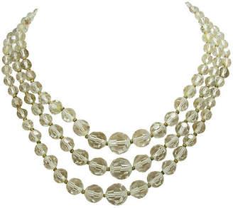 One Kings Lane Vintage Star Three-Strand Crystal Bead Necklace