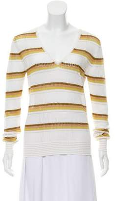 Cruciani Striped Open Knit Sweater w/ Tags