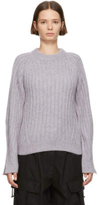 3.1 Phillip Lim Purple Lofty Rib Crewneck Sweater