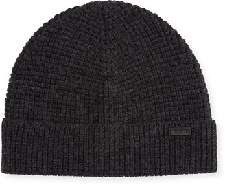 John Varvatos Waffle Knit Wool Hat, Shark $45 thestylecure.com