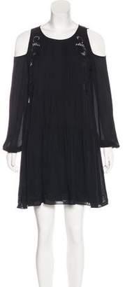 Thakoon Silk Mini Long Sleeve Dress