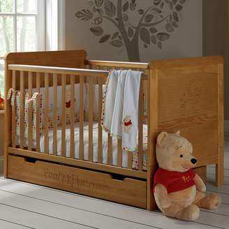 O Baby Obaby Winnie the Pooh Cot Bed & Under Drawer
