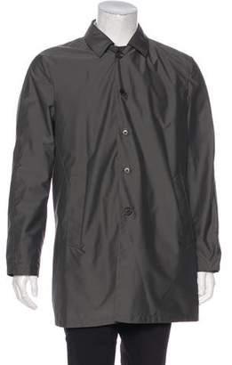 Isaia O' Munaciello 150's Wool-Blend Reversible Rain Coat