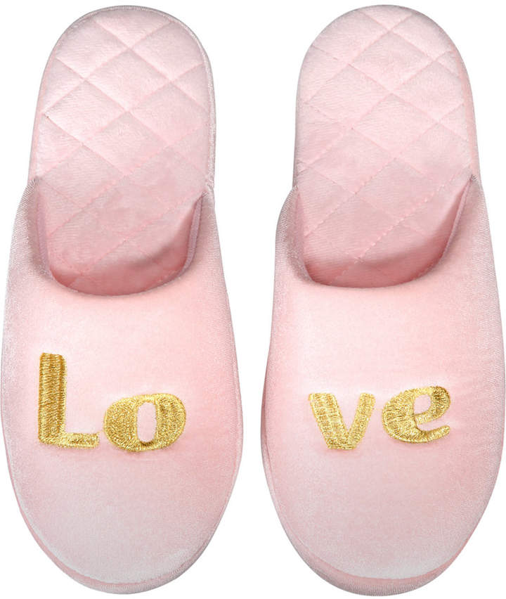 I.n.c. Love Velour Scuff Slippers, Created for Macy's