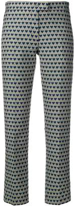 Paul Smith heart-jacquard trousers