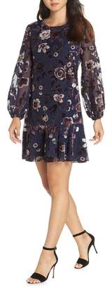 Eliza J Floral Chiffon Shift Dress