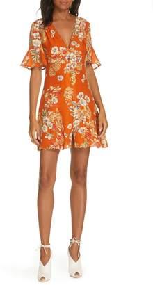 Nicholas Floral Silk Minidress