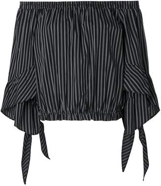 Isa Belle Isabelle Blanche striped off-shoulder top