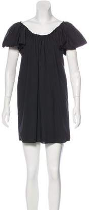 Lanvin Scoop Neck Mini Dress