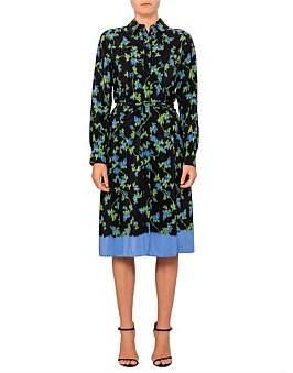 Altuzarra Strada Floral Long Sleeve Shirt Dress
