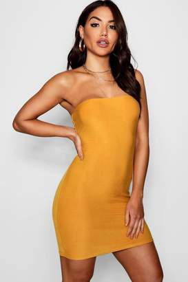 boohoo India Bandeau Jersey Bodycon Dress