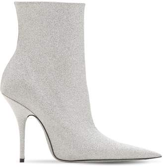 Balenciaga 110mm Knife Glittered Ankle Boots