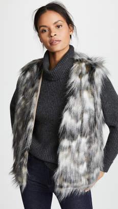 Cupcakes And Cashmere Frisco Multi-Colored Faux Fur Vest