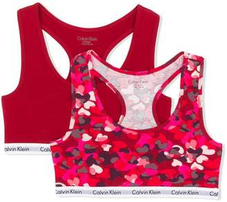 Calvin Klein Kids TEEN logo sports bra set