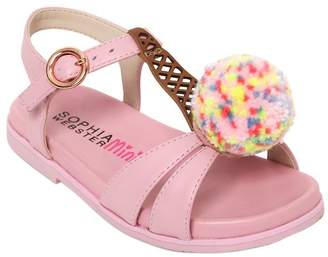 Sophia Webster Loni Ice Cream Leather Sandals