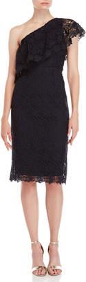 Nanette Lepore Nanette Lace One-Shoulder Sheath Dress