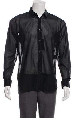 Saint Laurent Semi-Sheer Button-Up Top w/ Tags