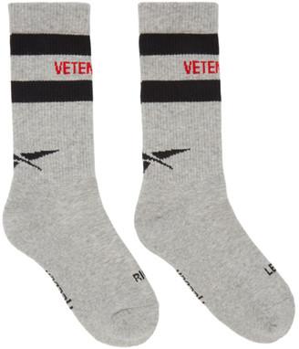 Vetements Grey Reebok Edition Tennis Socks $95 thestylecure.com