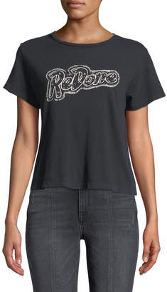 RE/DONE Classic Cropped Graphic Logo Tee