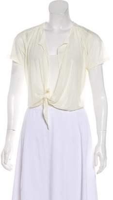 Chanel Iridescent Tie-Front Top
