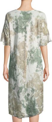 XCVI Reeta Tie-Dye Linen Tunic Dress